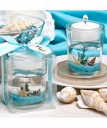 Beach Themed Gel Candle Favors Shells Starfish Beach Party Ocean Reef Te... - $3.74+