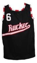 Custom Name # Rucker Park 1977 Retro Basketball Jersey New Sewn Black Any Size image 4