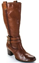Born Womens buckle Whiskey Brown Leather Knee High Boots Riding western ... - $75.00