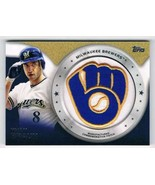 2014 Topps Commemerative Patch Cards #CP-49 Ryan Braun NM-MT Brewers - $22.72