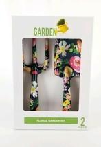 Floral Garden Kit 2 piece Set Shovel & Rake Metal  Blue New  - $18.99