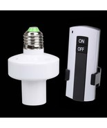 E27 Screw Wireless Remote Control Light Lamp Bulb Holder Switch New - $14.72 CAD