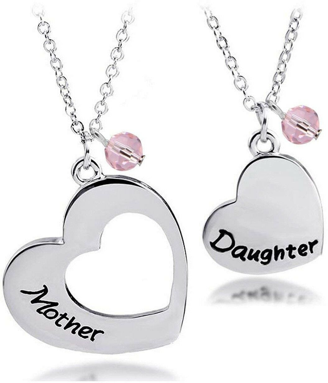 Primary image for BNQL Mother Daughter Heart Necklace Set Mommy and Me Jewelry Gift (Mother set)