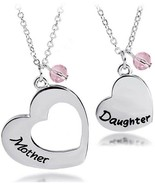 BNQL Mother Daughter Heart Necklace Set Mommy and Me Jewelry Gift (Mothe... - $53.95