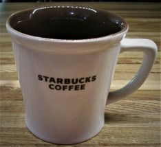 Starbucks 2009 White/Brown Large 16 Oz. Bone China Cup/Excellent - $17.99