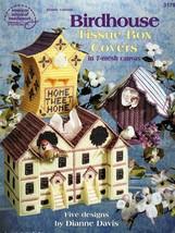 Birdhouse Tissue Box Covers Plastic Canvas Leaflet 3179 Home Tweet Home - $6.95