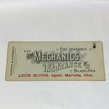 Vintage the mechanics Insurance Co.. philadelphia/marietta ohio ink blotter - $12.60