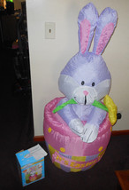 Gemmy Easter Airblown Inflatable 4 Foot Tall Easter Bunny - $33.84