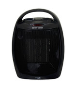 Vie Air 1500W Portable 2 Settings Black Ceramic Heater with Adjustable T... - $42.56