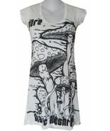 Yoga Mini Dress cap sleeve Maya Om Magic Mushrooms Inka Hippie S Sure Ze... - $17.72