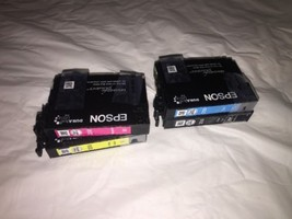 Genuine OEM Epson 200 4 Pack Ink B/C/M/Y; T200120-BCS CustomerReturn Exp:03/2020 - $9.49