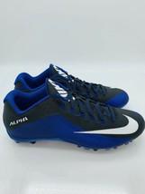 huge discount 18a50 87b77 NIKE Men  39 s Alpha Pro II TD NikeSkin Football Cleats Black  Blue