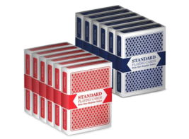12 Decks (6 Red/6 Blue) Wide-Size Regular Index Playing Cards Set Plasti... - $19.64