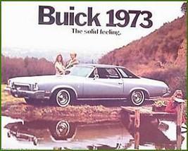 1973 Buick Color Dealer Brochure, Riviera LeSabre MINT - $4.36