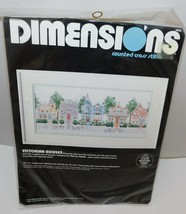 Dimensions Victorian Houses Counted Cross Stitch Kit 1998 New - $14.45