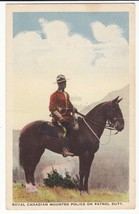 ROYAL CANADIAN MOUNTED POLICE ON PATROL DUTY ~ CANADA ~ c1940s vintage p... - $3.95