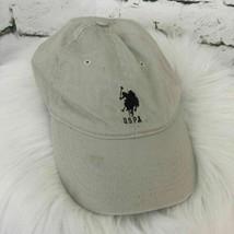 USPA US Polo Association Boys One Sz Hat Beige Khaki Ball Cap 100% Cotton - $9.89