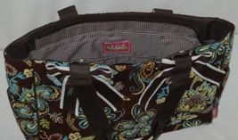 N Gil Product Number PRY2424 Large Diaper Bag Brown Teal Green Paisley Pattern image 4