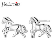 Silver 925 Stud Earrings for Women Animal Horse Earring Fashion Brand Je... - $7.64
