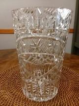 """24% Lead  Crystal Ice Bucket / Vase   Vtg West German  9 1/2"""" TALL Heav... - $48.00"""