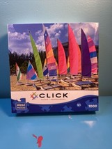 Puzzle Click Mega Puzzle Cable Beach 1000 Pieces New Sealed - $14.85