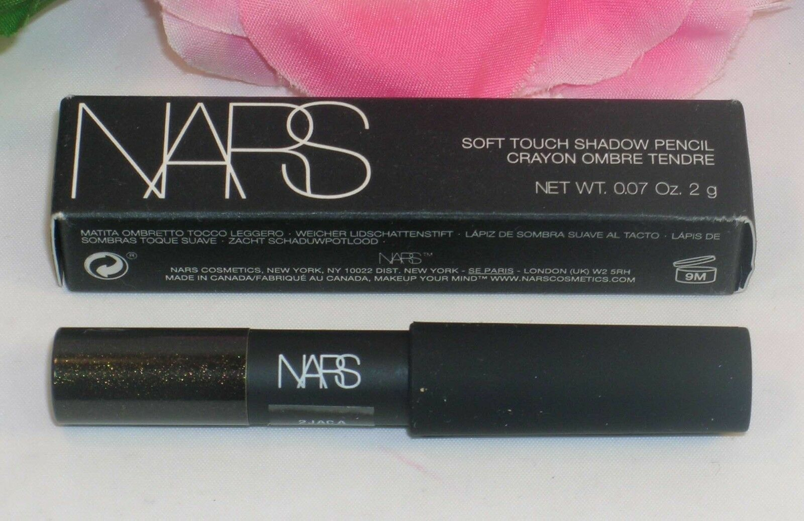 Primary image for New NARS Eye Shadow Soft Shadow Pencil Angle Noir 3782 Black .07 OZ 2G Half Size