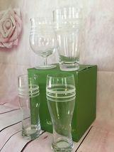 KATE SPADE NIB SET OF 4 ASSORTED BEER GLASSES SET OF 4 LIBRARY STRIPE LENOX image 6