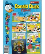 Disney Donald Duck Color Comic Book Magazine #18 London Ed 1989 Water Stain - $2.99