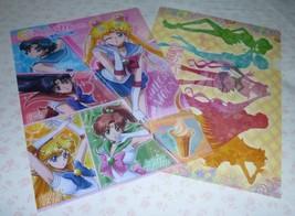 Rare Sailor Moon crystal LOT 2 Japan jumbo clear plastic file folder holder - $45.00