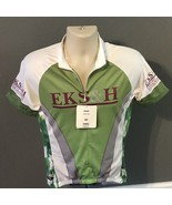 Primal cycling jersey women New Tags Green Medium White Shirt NWT - $19.75