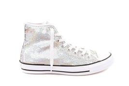 Converse Womens CTAS HI 553440C Sneakers Silver/White US 7 RRP $134 - $69.00