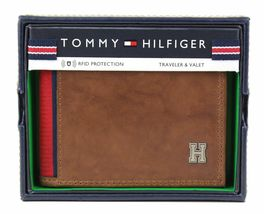 Tommy Hilfiger Men's Leather Credit Card Id Traveler Rfid Wallet 31TL240004 image 10