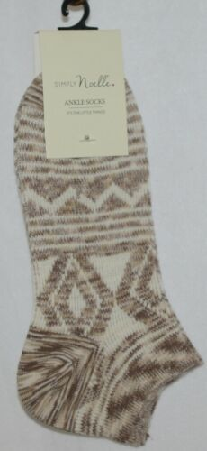 Simply Noelle Cream Tan Ankle Socks One Size Fits Most