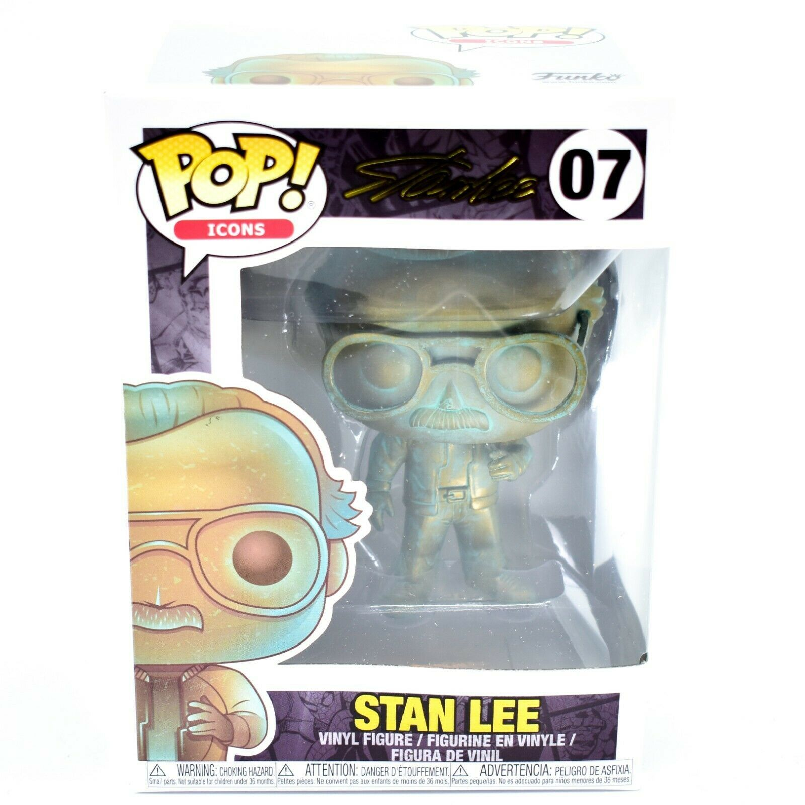 Funko Pop! Icons Marvel Stan Lee #07 Patina Vinyl Action Figure