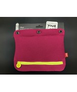 2x TWO NEW ZIPIT 3 Ring Mesh Pencil Case pink/yellow or blue/purple - $10.40