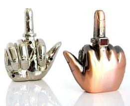 Middle Finger Refillable Lighter Adjustable Regular Flame - 1 w/ Random Color image 1