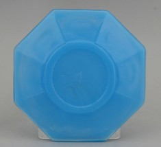 Vintage Akro Agate Toy Azure Blue Small Otagonal Plate 3 1/4""