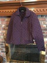 Eddie Bauer ladies Quilted  Jacket Burgundy Size Small Premium Gooseberry - $24.30
