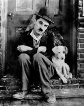 Charlie Chaplin Dog SSSP Vintage 16X20 BW Movie Memorabilia Photo - $30.95
