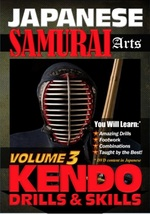 Japanese Arts of Samurai #3 Kendo Drills Skills men women DVD martial arts - $22.00