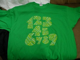 COUNTING CROWS - 1.2.3.4.5.6.7.8.9 Green T-Shirt Never Worn~ XL - $15.84