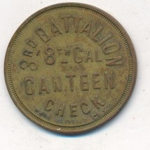 "3RD BATTALION CHECK-8TH CAL CANTEEN TRADE TOKEN ""5""-NICE TOKEN-RARE! SHI... - $199.95"