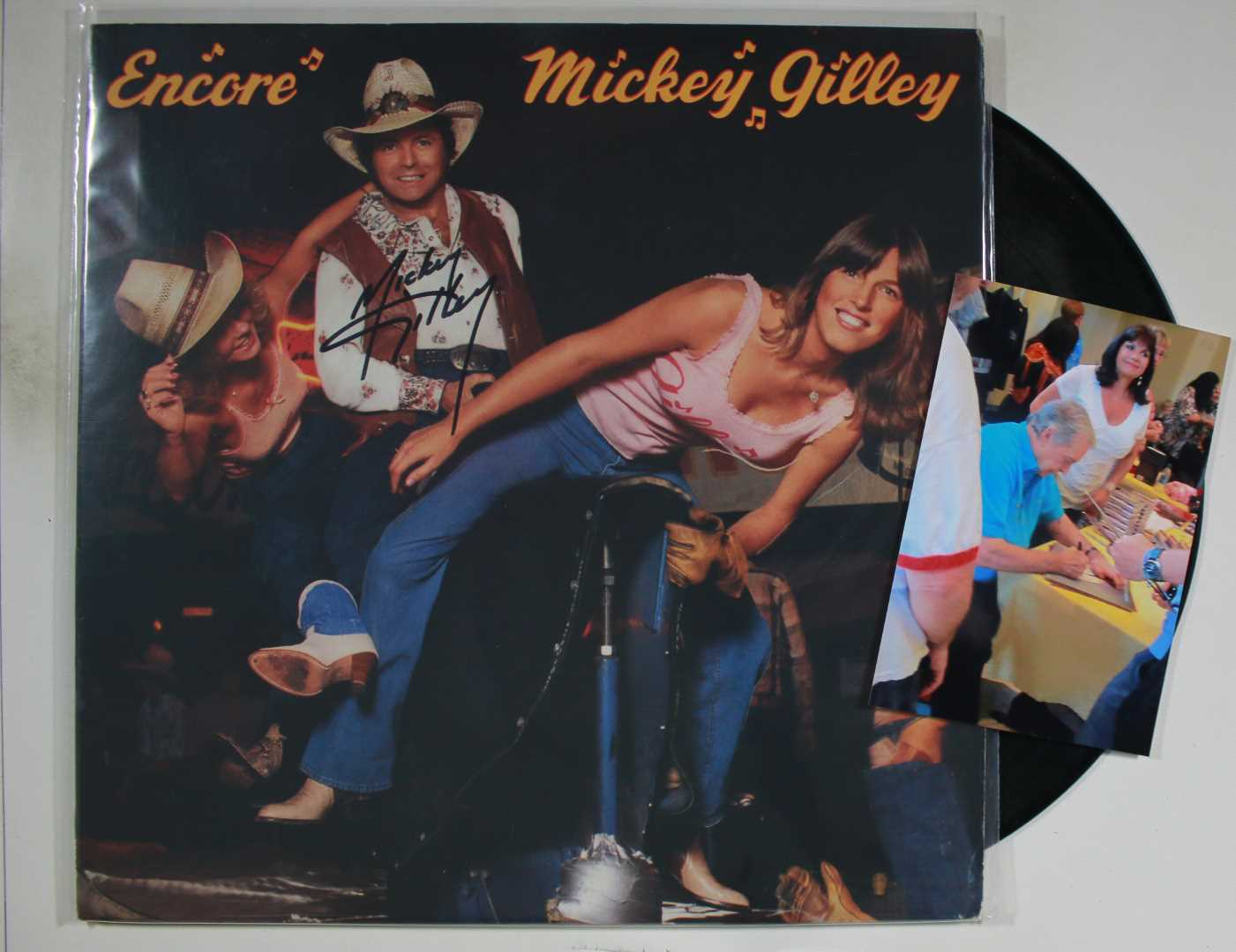 Primary image for Mickey Gilley Signed Autographed Record Album w/ Proof Photo
