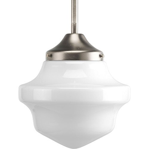 Primary image for Progress Lighting P5196-09 Schoolhouse Collection 1-Light Mini-Pendant, Brushed