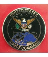 US ARMY AIR FORCE GI UNITED STATES SPACE COMMAND FULL SIZE ENAMELED I.D.... - $24.74