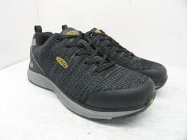 KEEN Women's Low-Cut Sparta Alloy-Toe ESD Work Shoes Black/Grey-Flannel ... - $85.49