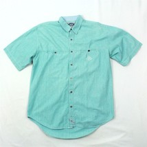 VTG Levi's Men Button Up Shirt Striped M / L Big E Real Indigo Embroider... - $52.24
