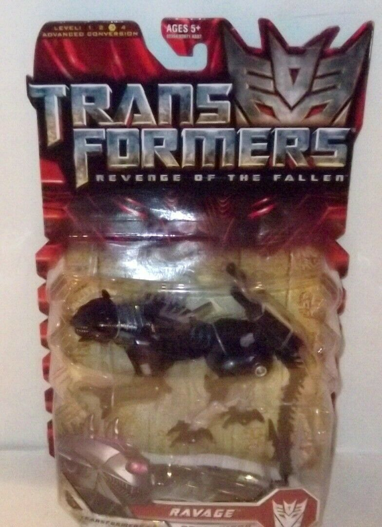 ✰ 2008 Transformers ROTF Revenge of the Fallen RAVAGE Deluxe Class Sealed MOC image 2