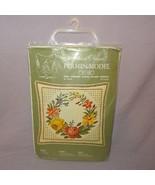 Vintage Permin Model Cross Stitch Kit Danish Design 87 1408 Flowers Cushion - $29.99