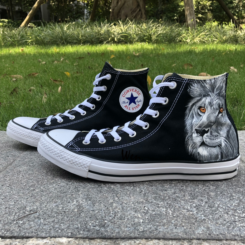 17d95a1f2aa937 Custom Converse Lion King Hand Painted Shoes and 50 similar items